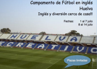 Campamento Fútbol + Inglés en Huelva
