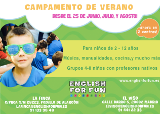 Campamento de Verano urbano English for fun