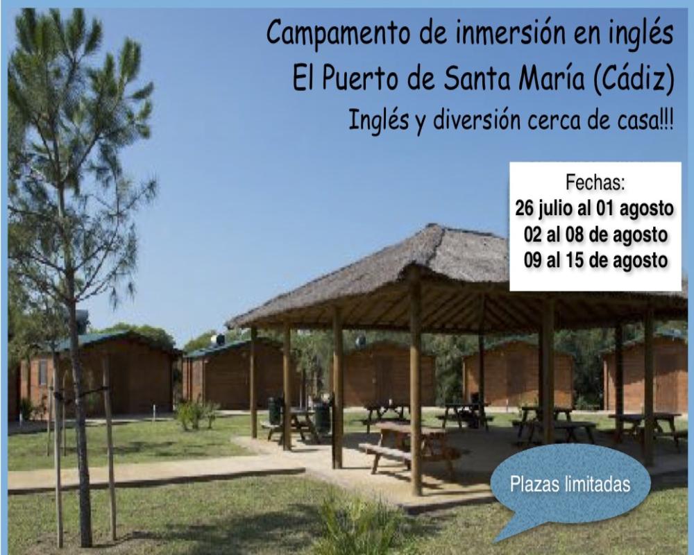 Campamento de Inmersión en Inglés en El Puerto de Santa María (Cádiz)