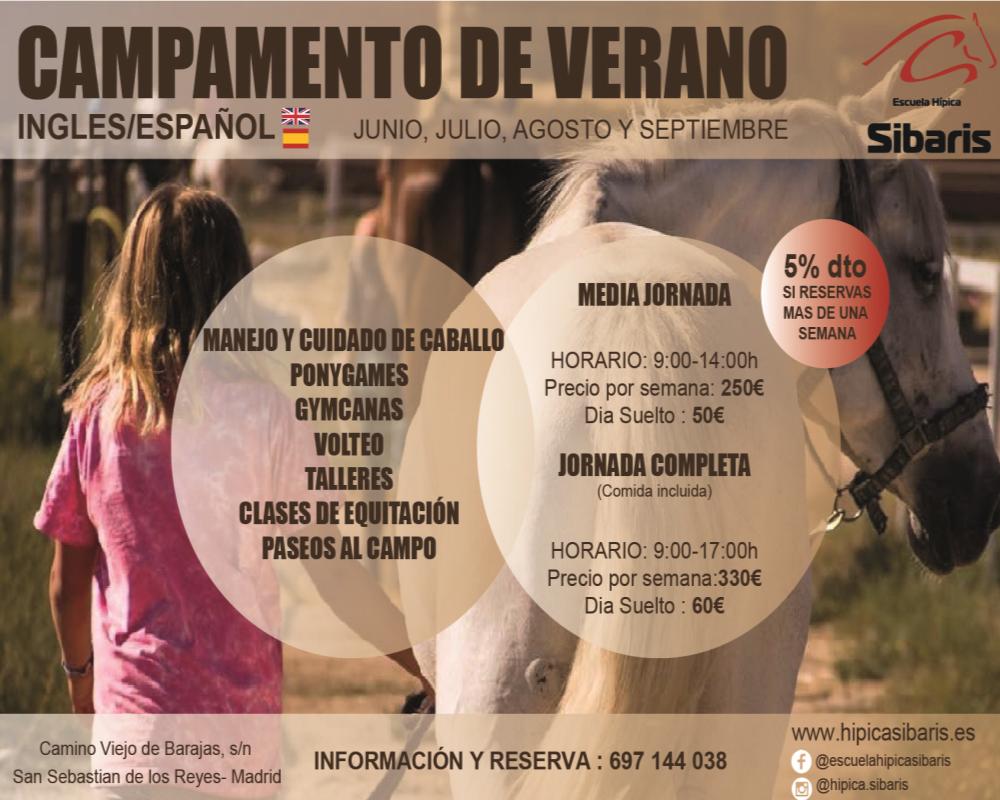 Campamentos Bilingue de Hipica